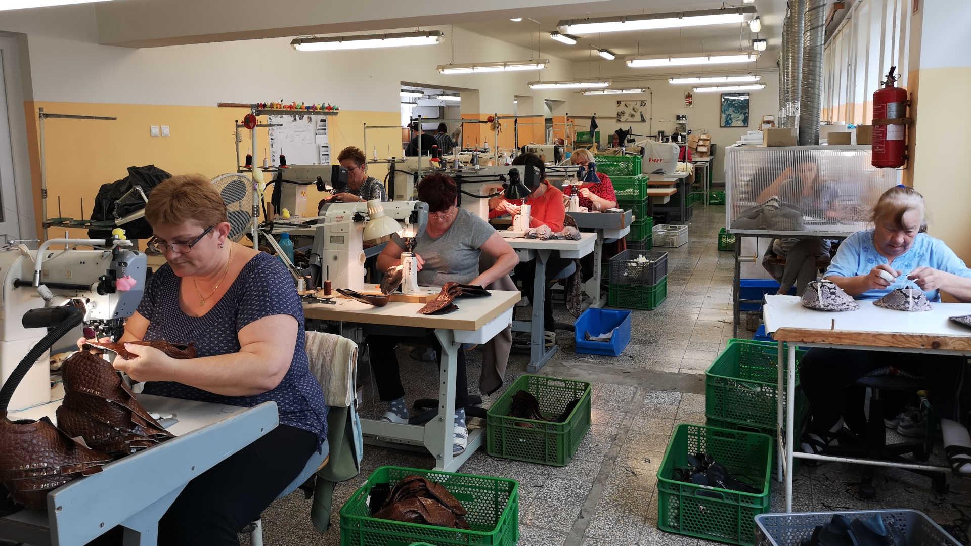 Herstellung von Schuhoberteilen
